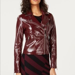 Bar lll Patent Faux Leather Moto ZIP Jacket NEW